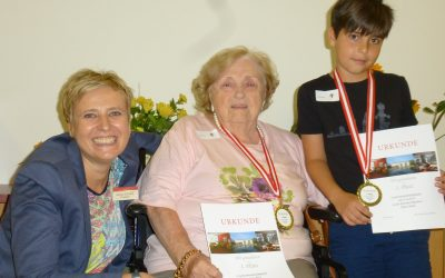 Kursana Wien-Tivoli veranstaltet Generationenolympiade mit Schülern und Senioren.