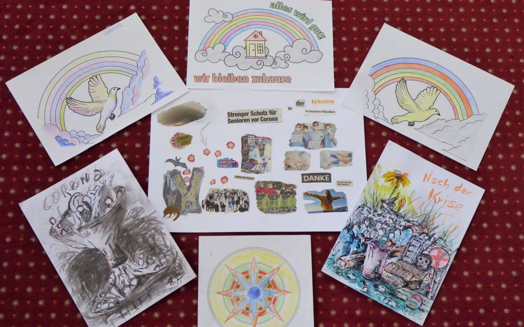 Kursana Senioren erstellen kreative Corona-Collage