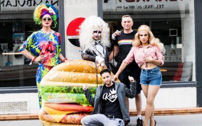 LGBTQ Aktion im Pride Monat
