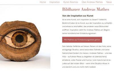 Zowack PR hat für den Bildhauer Andreas Mathes eine neue Website entwickelt